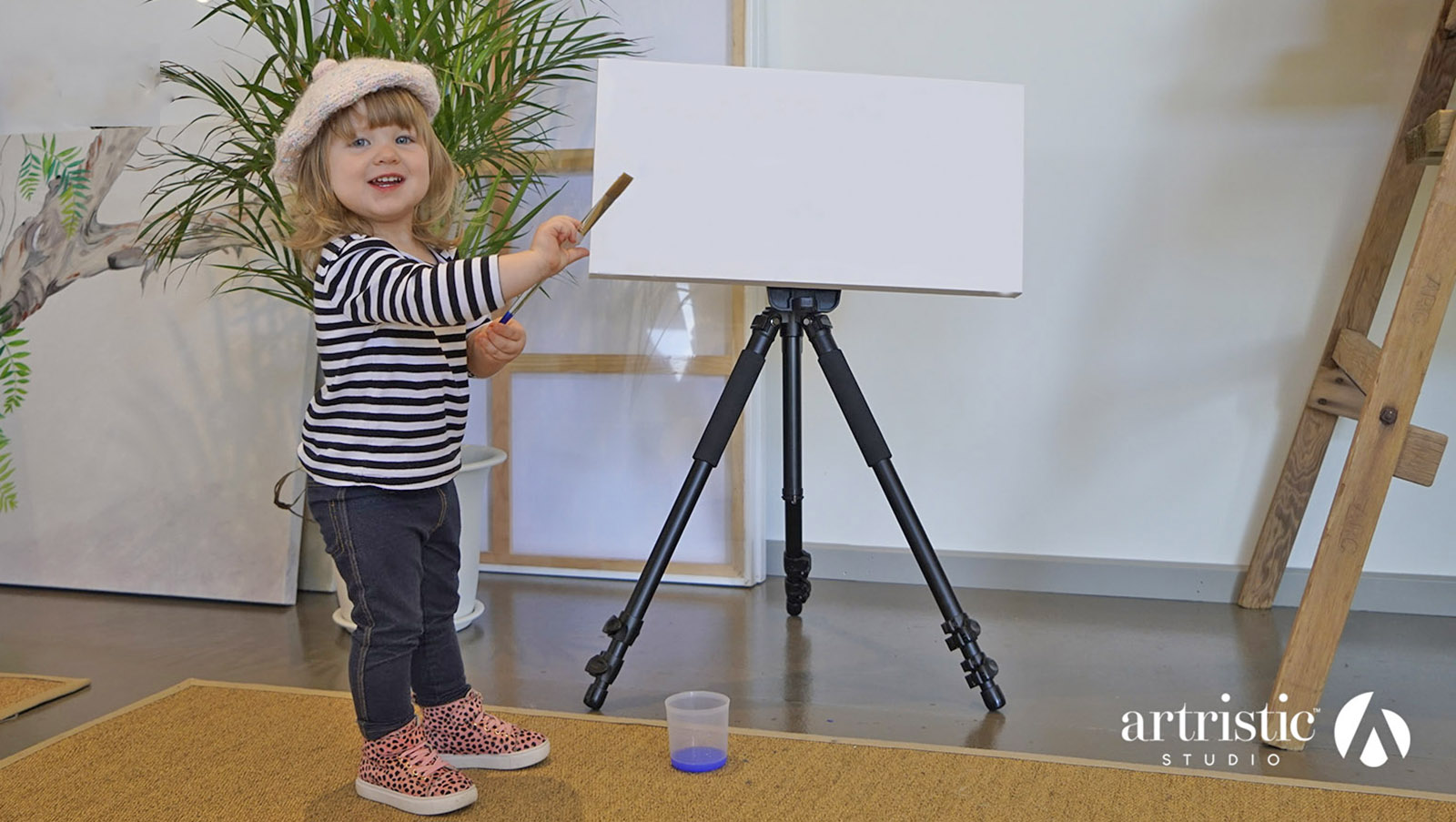It's a new year and 2018 is an excitingly blank canvas. We enlisted our favorite spokesmodel Charli to welcome you to a totally new Artristic as we begin the year with a new website, new easel and so much more
