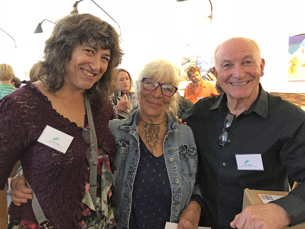 Fleur Peters, Diana Keir and Tony Barber at the Kangaroo Island Easter Art Exhibition